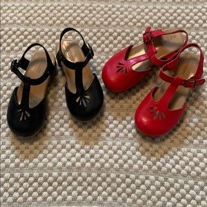 Old Navy Mary Jane wedge size 9 black/size 10 red